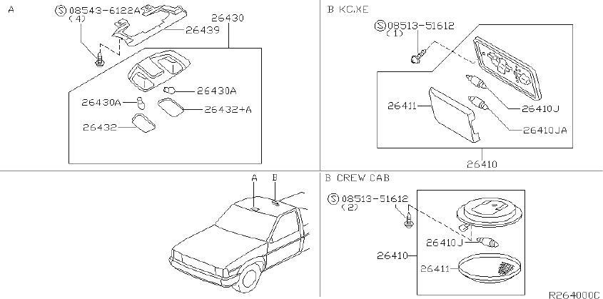 Datsun Pickup Dome Light  Lamp  Cargo
