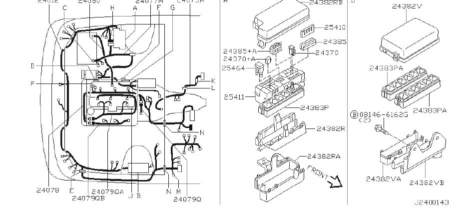 Nissan Pathfinder Battery Cable Harness  Other