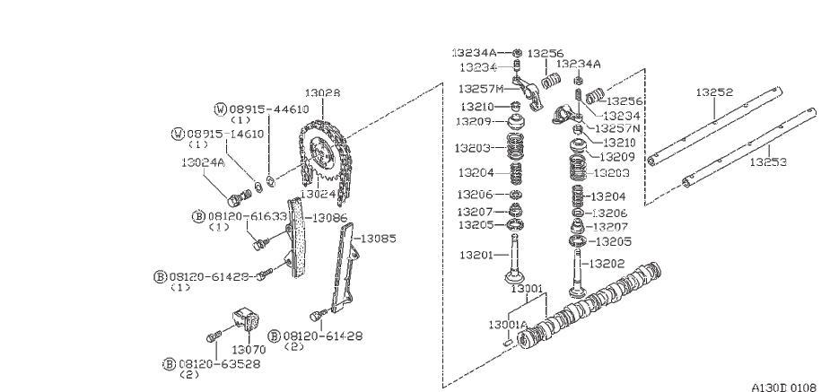 Nissan 200sx Engine Valve Spring  Exh  Mechanism  Camshaft