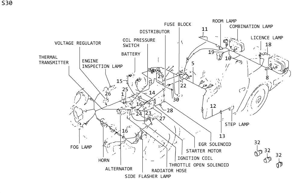 Datsun 260z Box Fusible Link  Case Fusible Link  Fusible