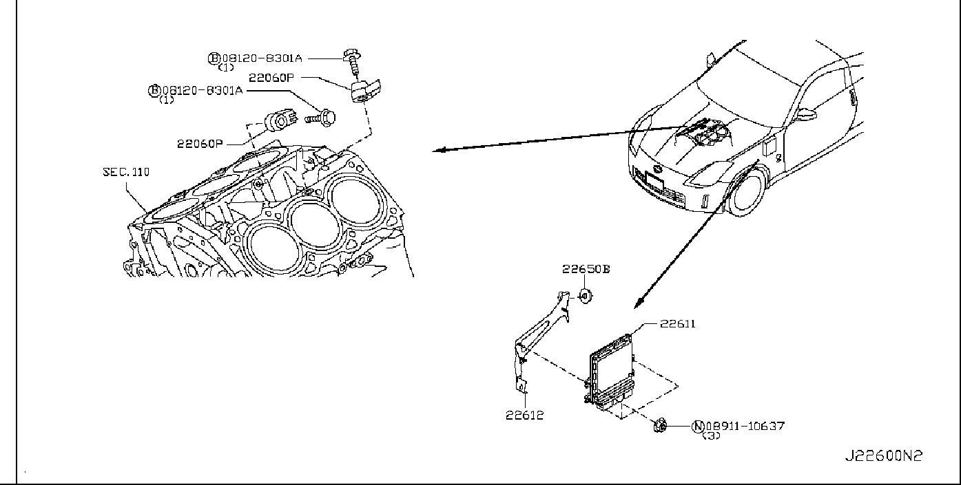 Nissan 350z Ignition Knock  Detonation  Sensor