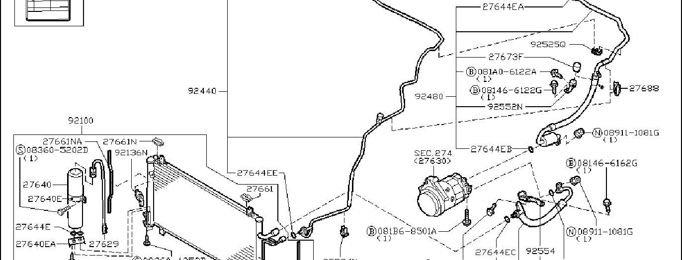 Nissan 350z Hose Flexible  L   Lower   Condensor  Tank