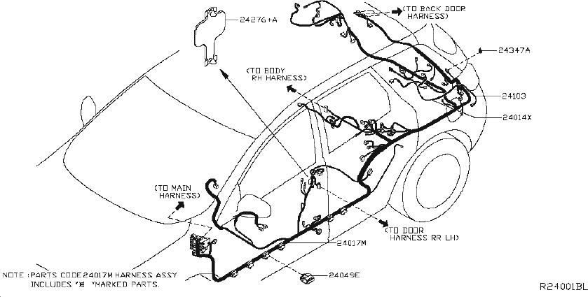 Nissan Murano Harness Sub  Other